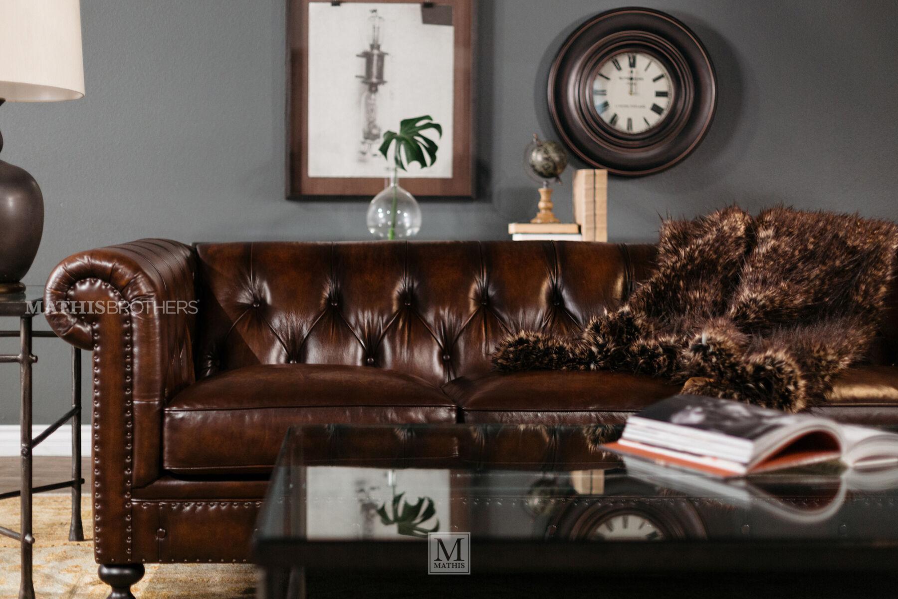 bernhardt brown leather club chair best buy computer chairs london dark sofa mathis