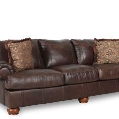Ashley Axiom Leather Sofa Traditional Recliner Mathis Brothers