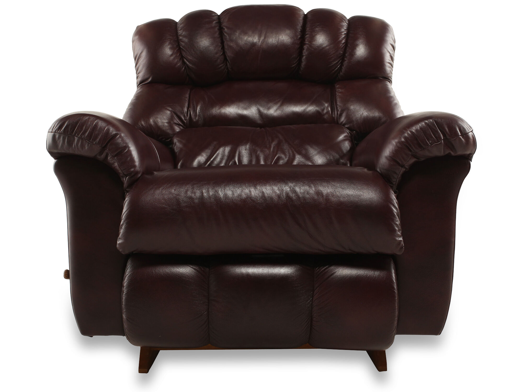 Leather Reclining Chair La Z Boy Crandell Bordeaux Leather Recliner Mathis
