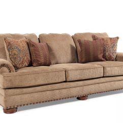 Cooper Sofa By Lane Modani Bergamo Modern Sectional Black Leather Silver Trim Desert | Mathis Brothers Furniture