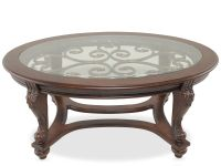 Ashley Norcastle Oval Cocktail Table | Mathis Brothers ...