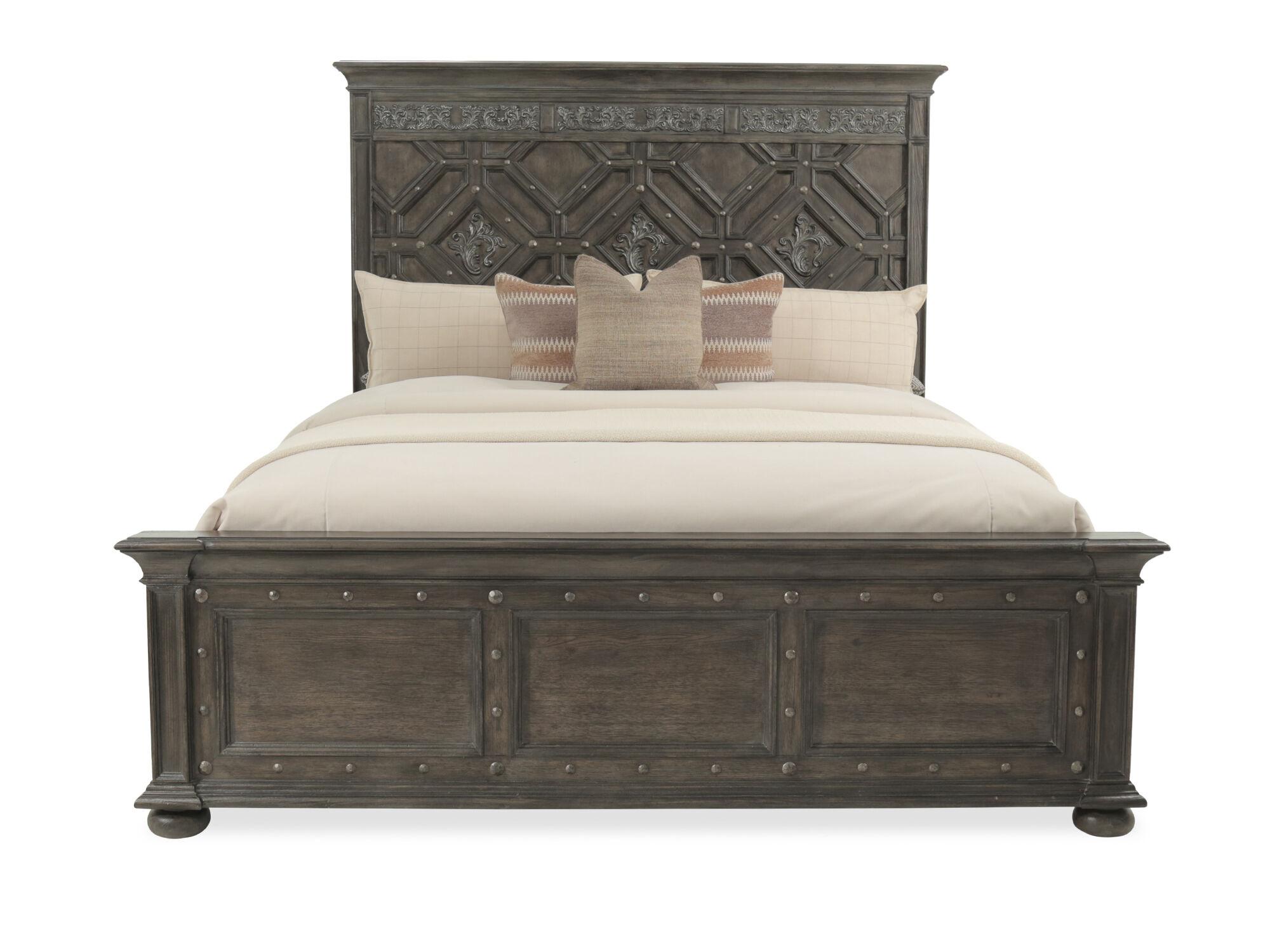 Hooker Vintage West Wood Panel Bed  Mathis Brothers Furniture