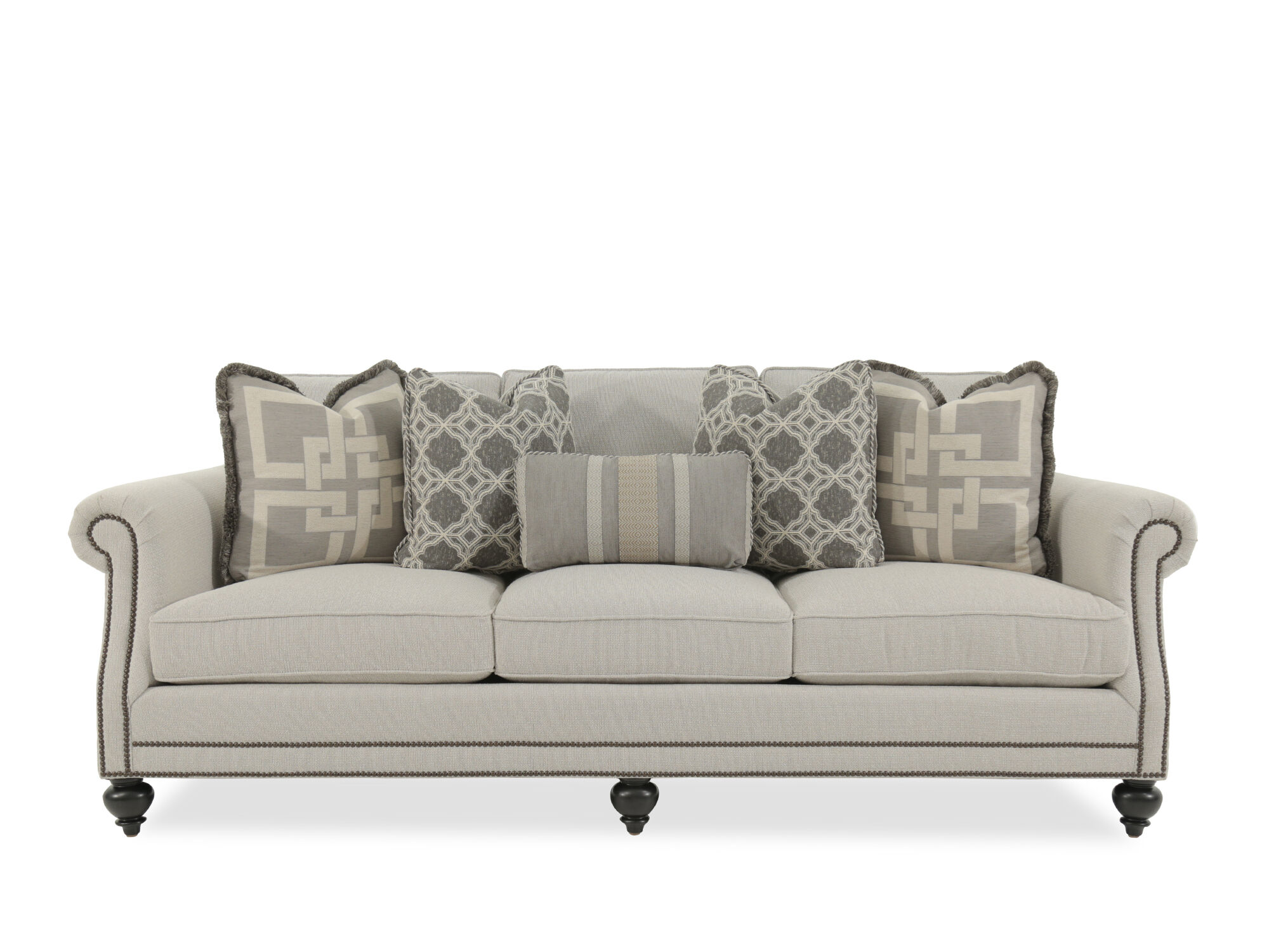 bernhardt brae sectional sofa ethan allen furniture beds beige mathis brothers