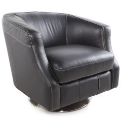 La Z Boy Swivel Chair Massage Outlet Axel Black Leather Mathis Brothers