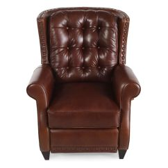 Bernhardt Brown Leather Club Chair Car Seat Office Conversion Kit Pierce Recliner Mathis Brothers Furniture
