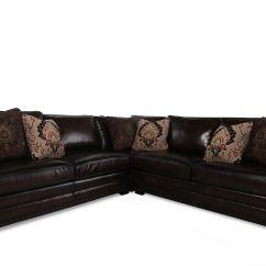 Bernhardt Cantor Sectional Sofa Sleep Sofas Three-piece Leather | Mathis ...