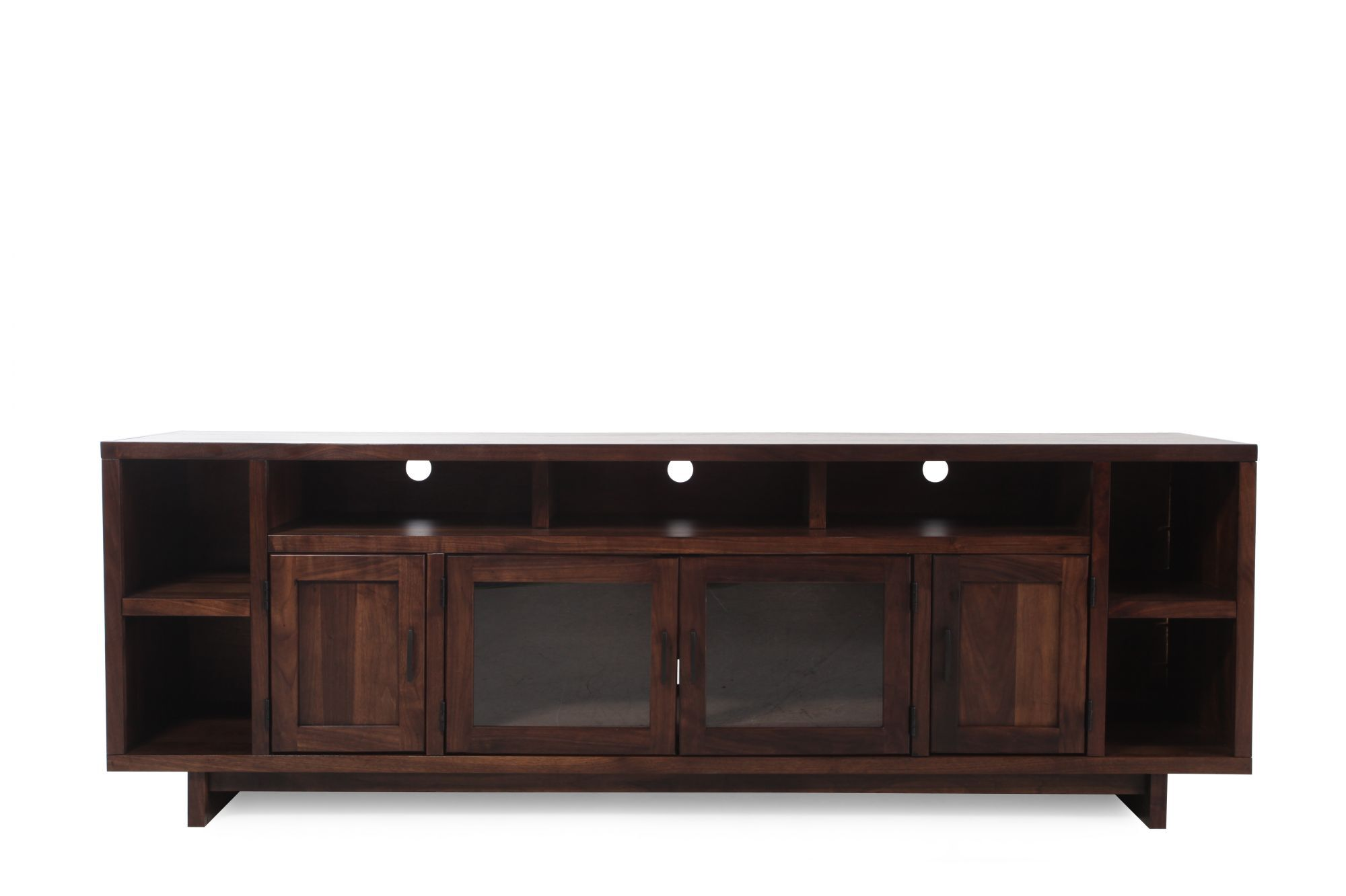sofa table 84 inches kent motion and loveseat aspen walnut heights inch console mathis brothers