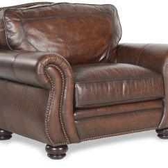 Bernhardt Brown Leather Club Chair Cover Elegance Breckenridge Mathis Brothers
