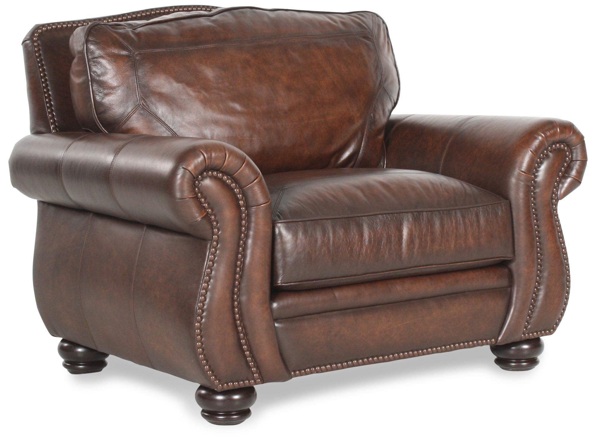 Bernhardt Breckenridge Leather Chair  Mathis Brothers