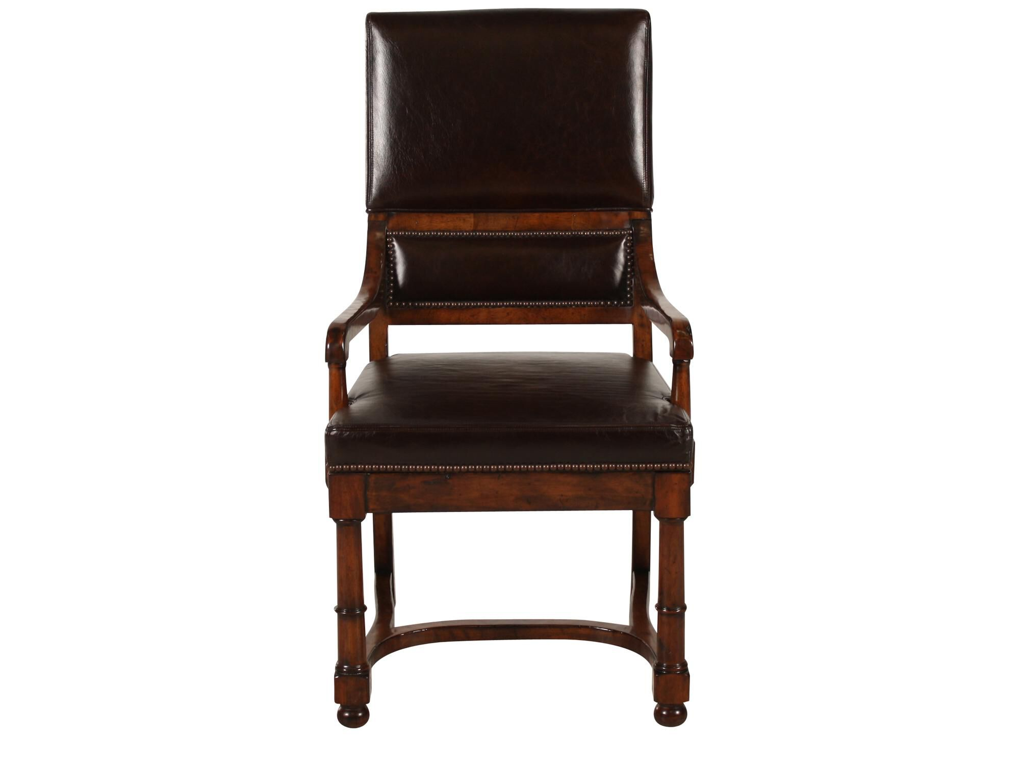 bernhardt brown leather club chair tattoo design vintage patina arm mathis