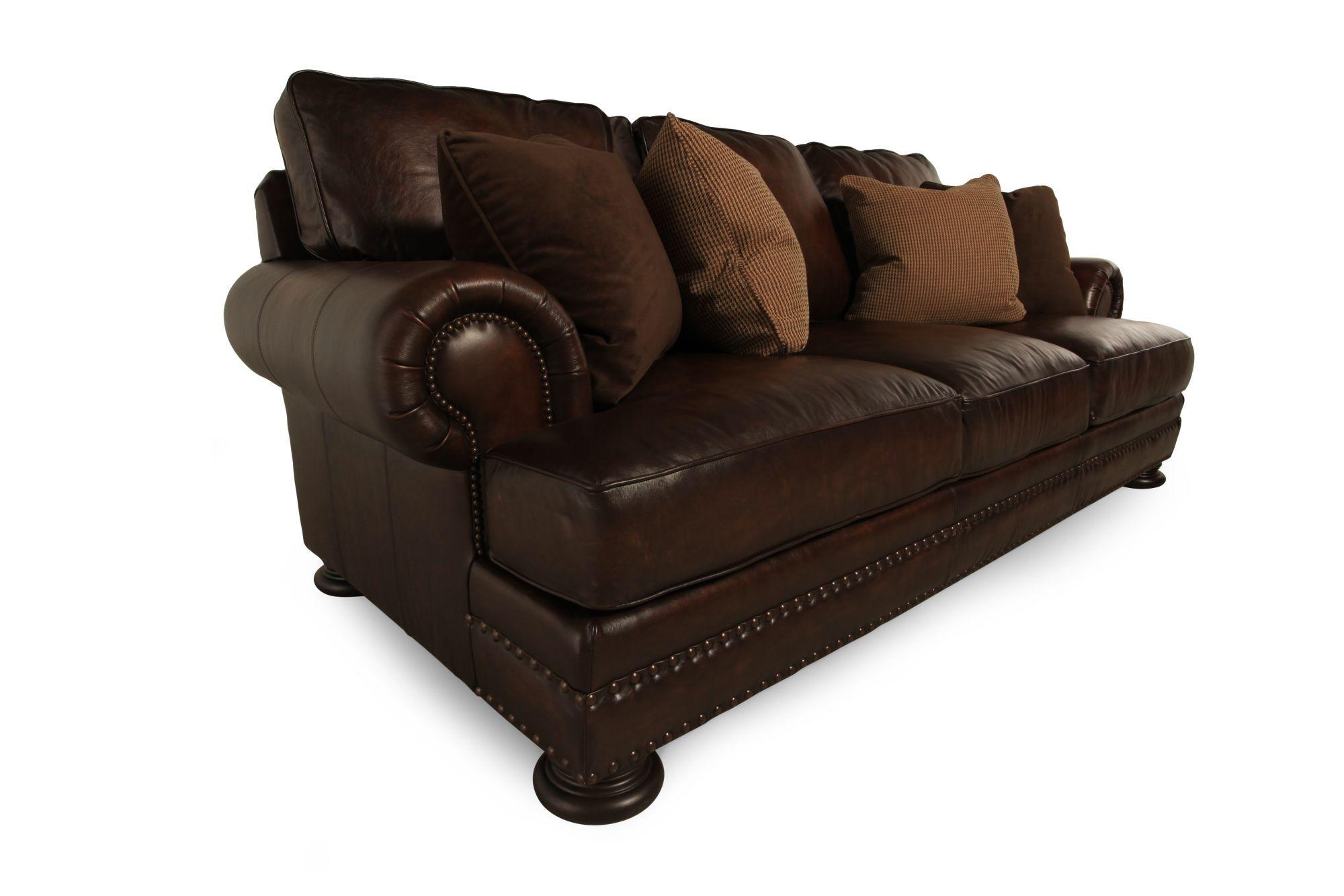 bernhardt breckenridge sofa three seat bed covers foster leather  thesofa