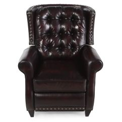 Bernhardt Brown Leather Club Chair Caravan Zero Gravity Lounge Pierce Recliner Mathis Brothers