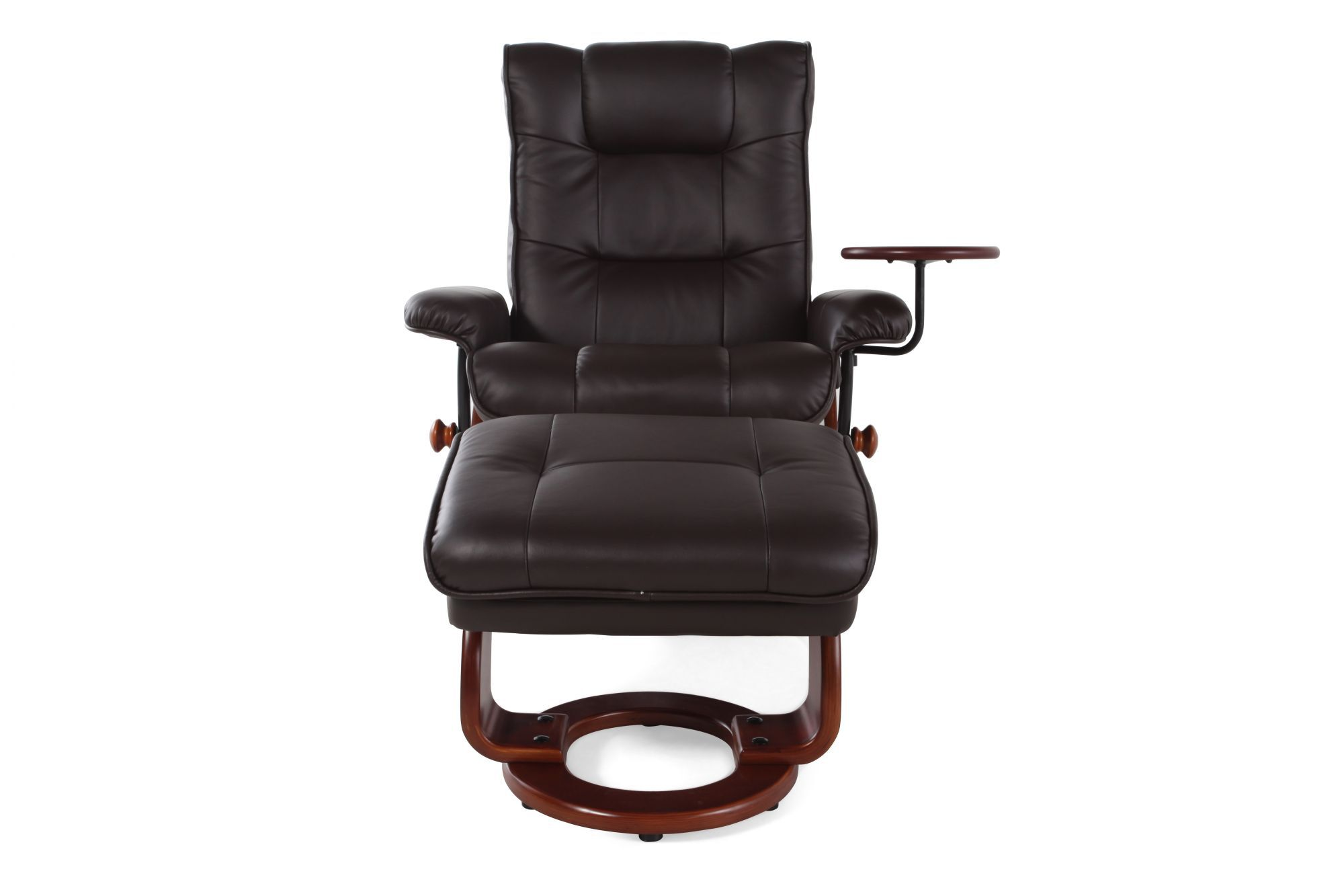 recliner vs chair with ottoman design bar benchmaster swivel reclining and mathis