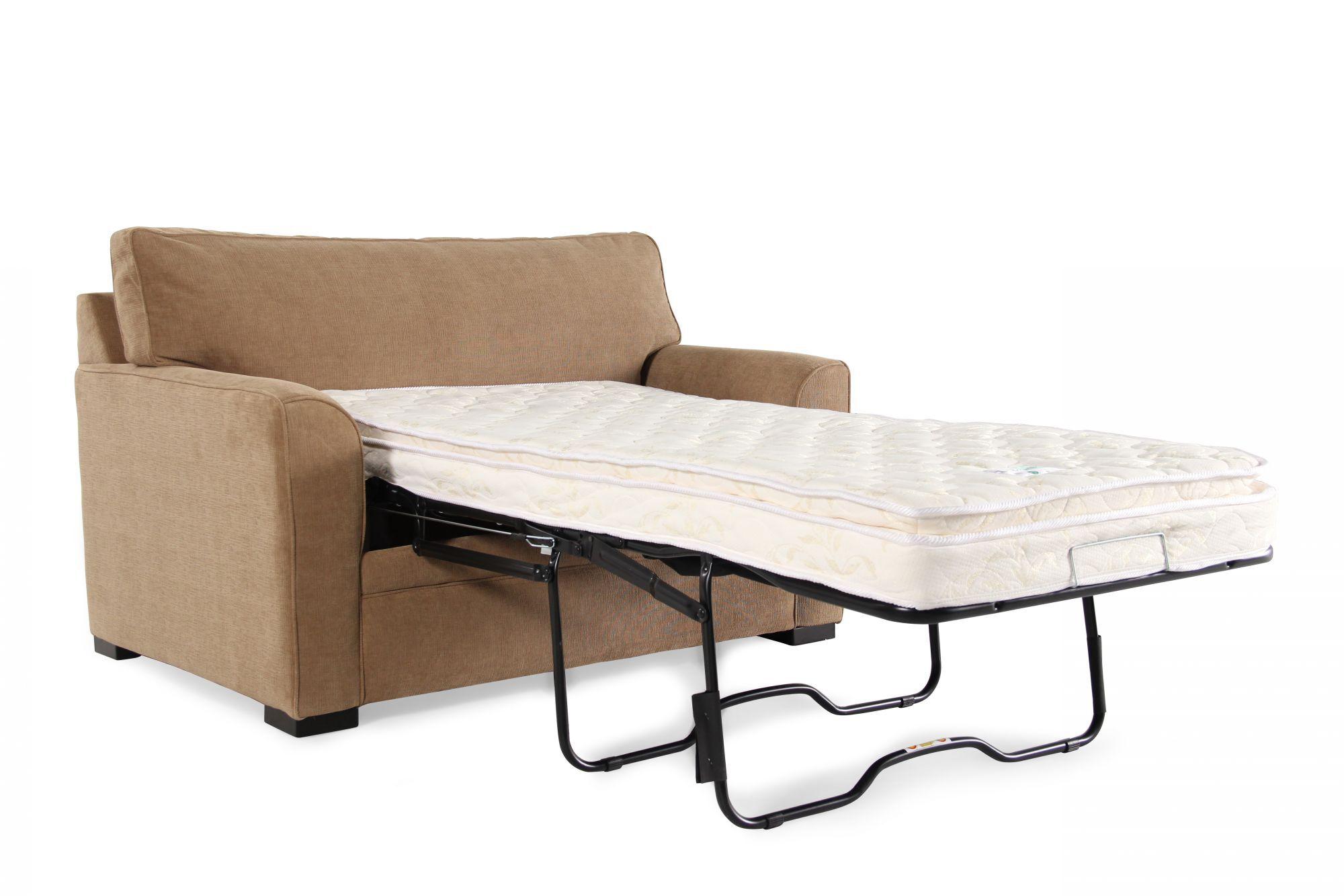 jonathan louis sofa bed lifestyle solutions lexington blissful brown full memory foam sleeper