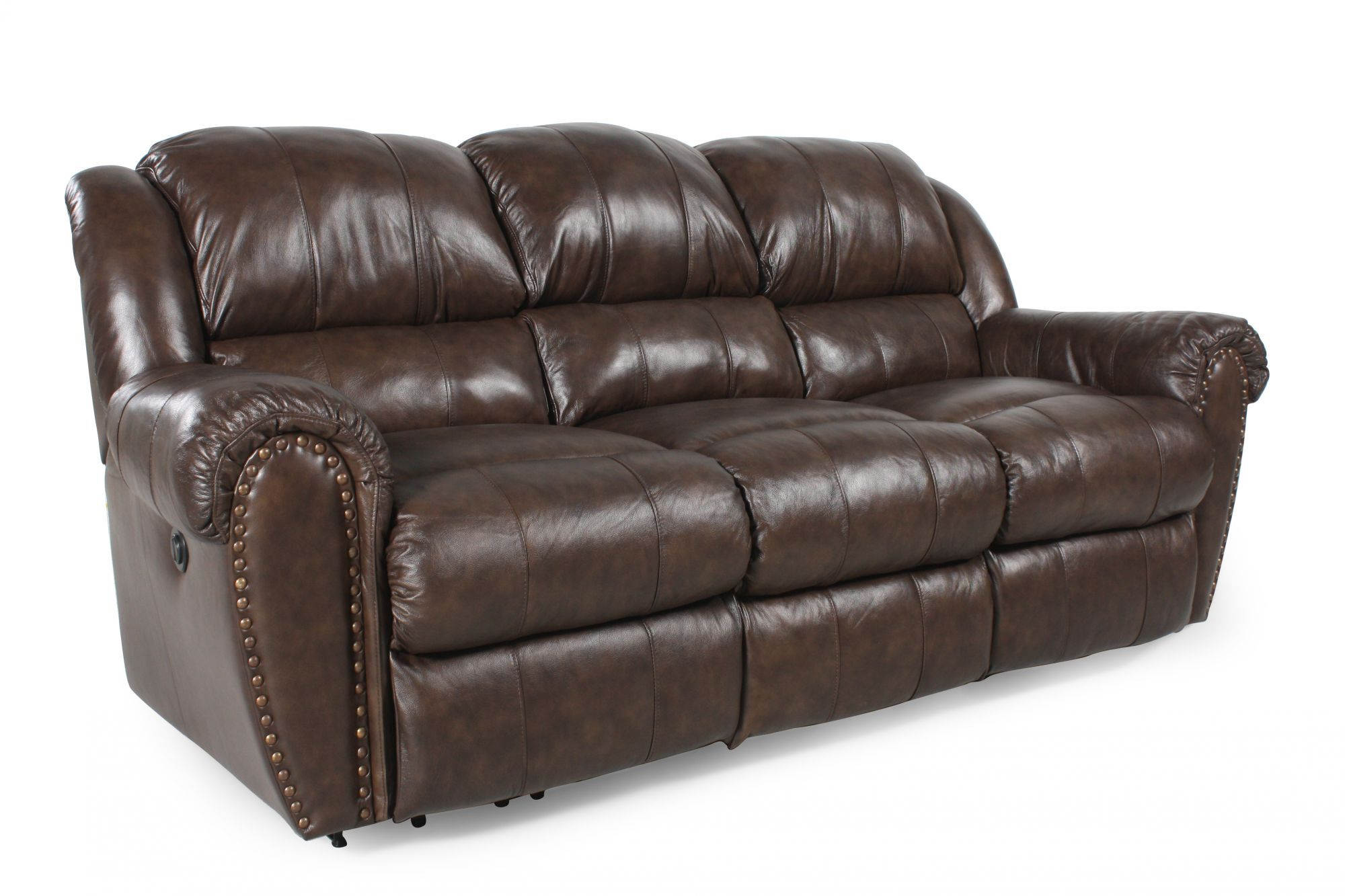 lane triple reclining sofa hot pink leather summerlin mathis brothers furniture