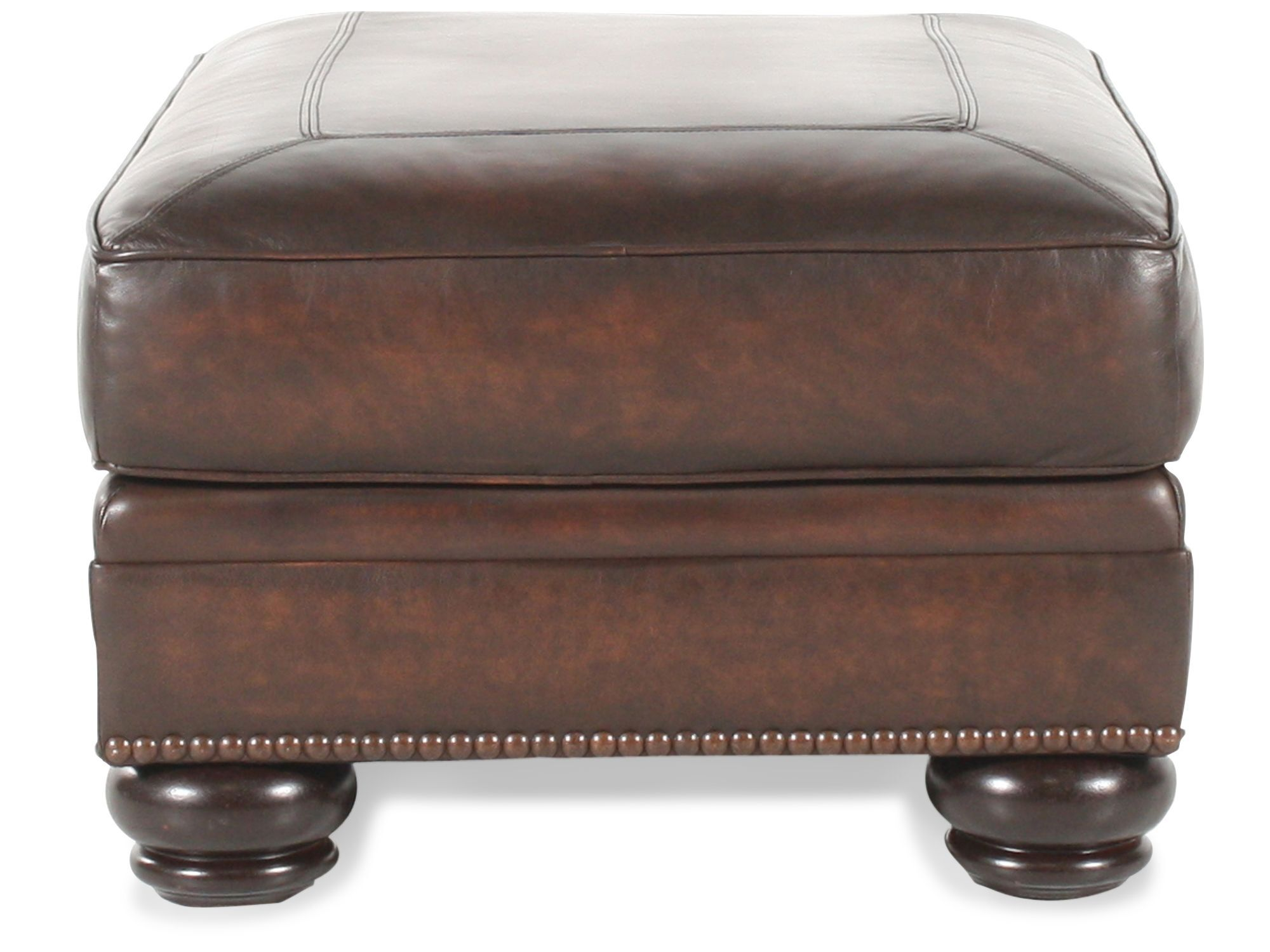 bernhardt breckenridge sofa leather and chairs ottoman mathis brothers
