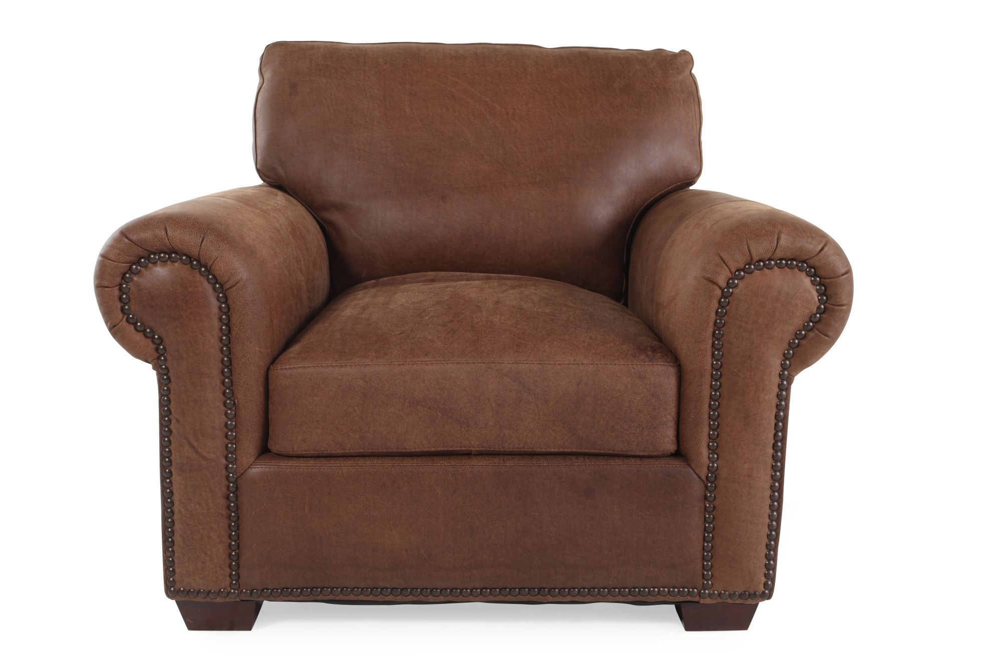 leather safari chair amish rocking cushions usa chaps mathis brothers furniture