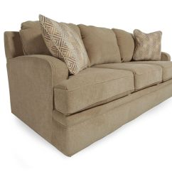 La Z Boy Diana Sleeper Sofa Marco Genuine Leather Reclining Sesame Queen Mathis Brothers