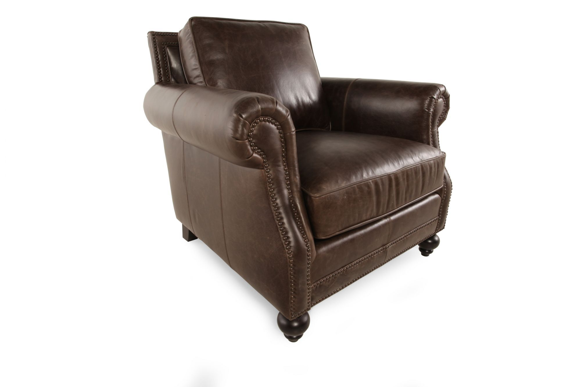 Bernhardt Brae Leather Chair  Mathis Brothers Furniture