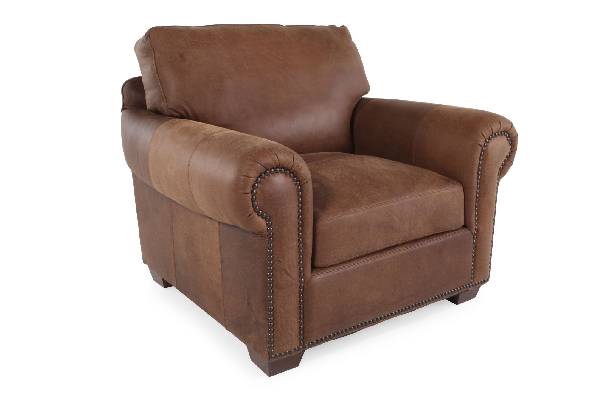 leather safari chair rattan hanging uk usa chaps mathis brothers furniture