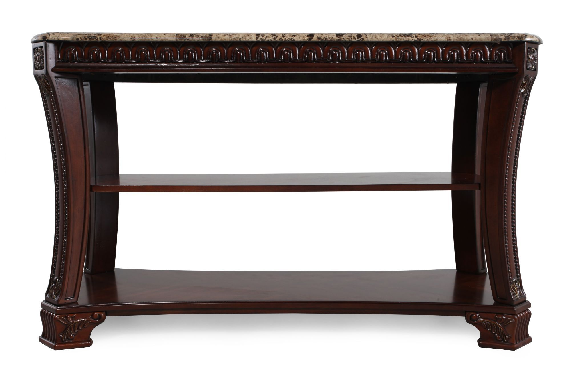 ashley sofa tables leather italia reviews ledelle console table mathis brothers furniture