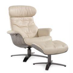 Leather Swivel Recliner Chair And Ottoman Desk Kmart Boulevard Cream