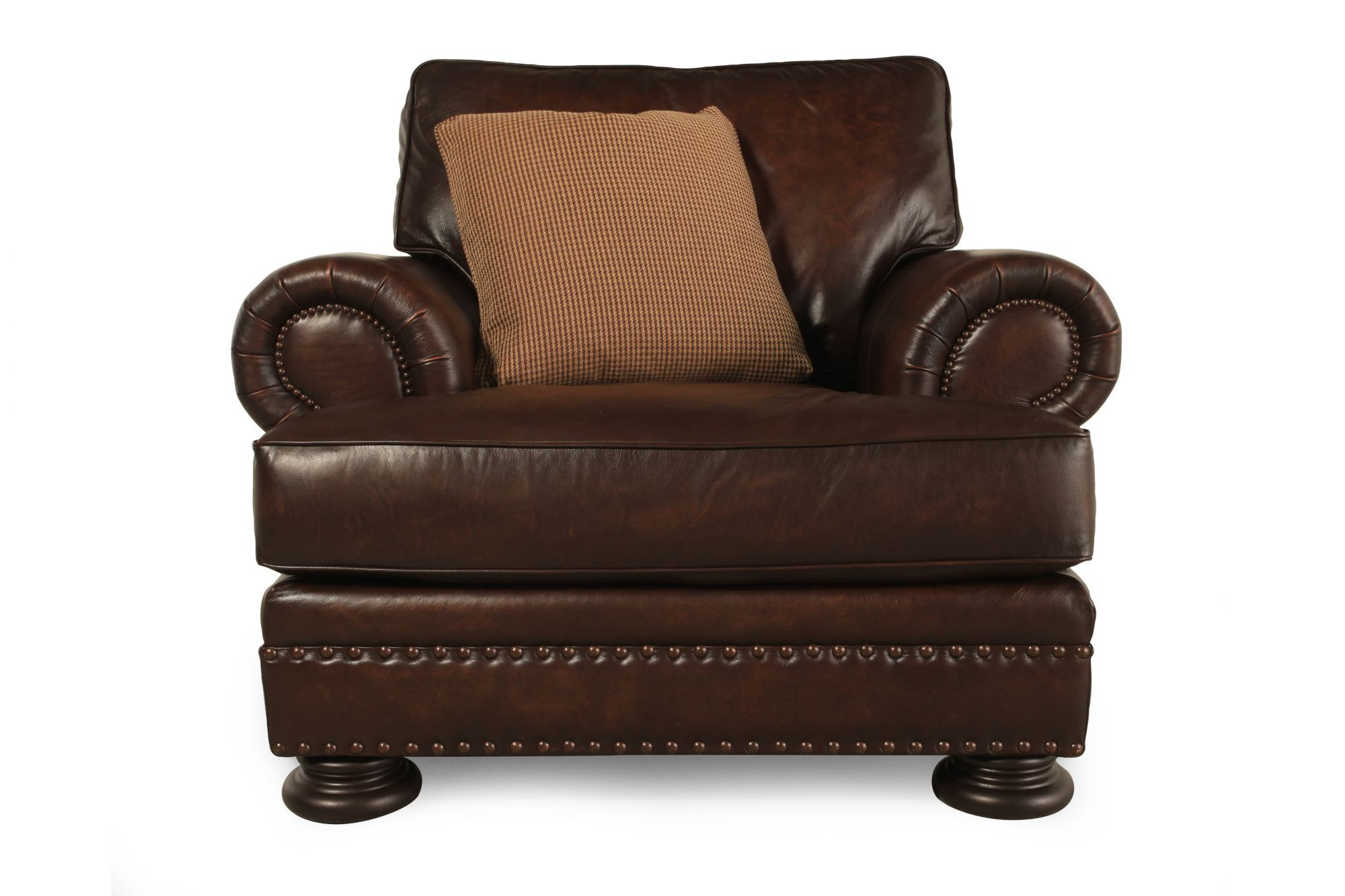 Bernhardt Foster Leather Chair  Mathis Brothers Furniture