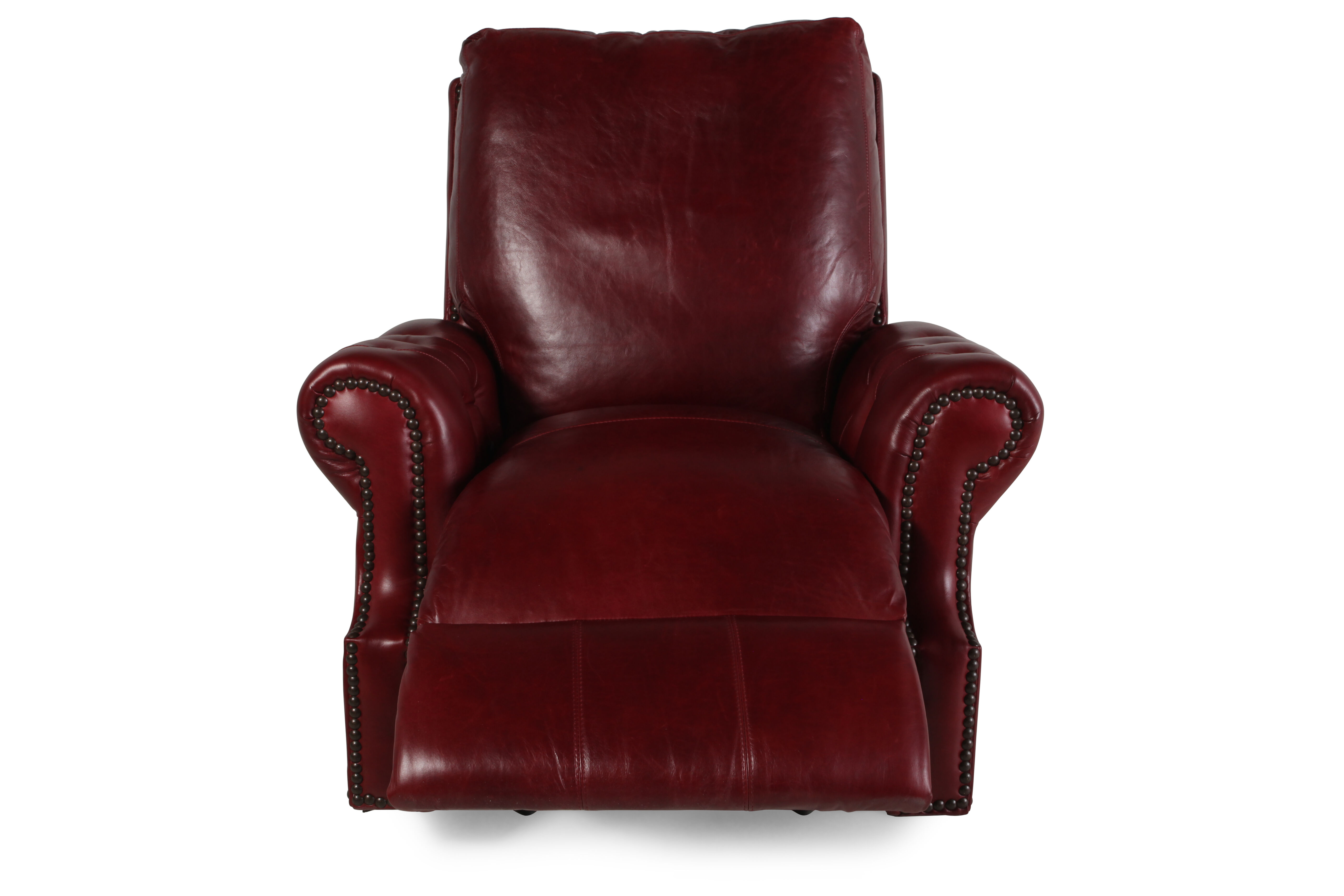 USA Leather Marsala Red Recliner  Mathis Brothers Furniture