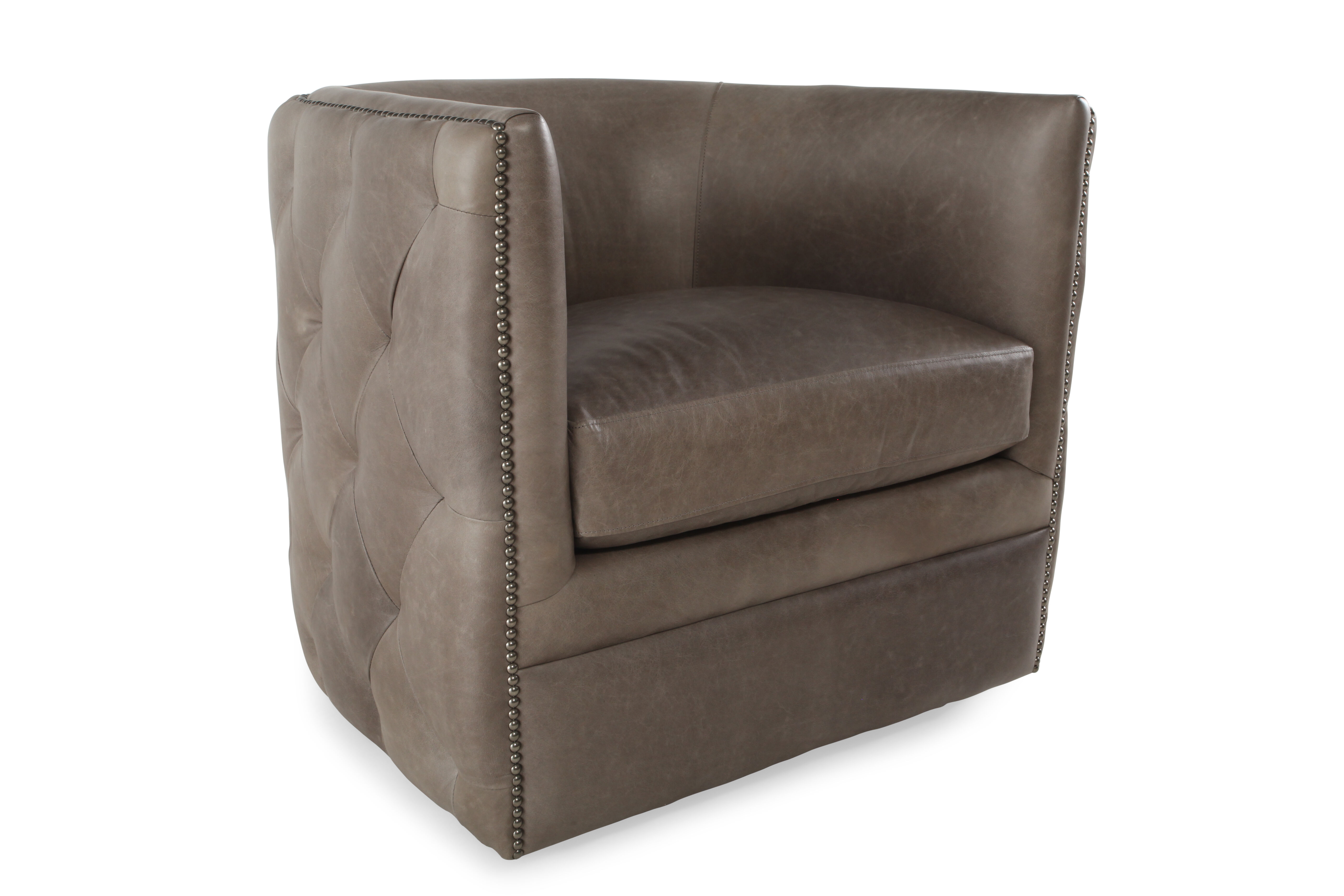Bernhardt Palazzo Leather Swivel Chair  Mathis Brothers