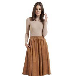 Suede Swing Skirt