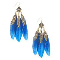 Earrings Feather New Style Bohemian Vintage Silver Feather ...