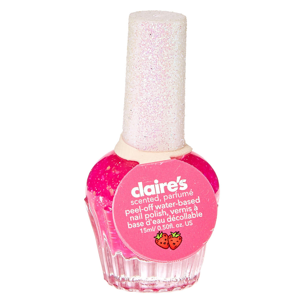 Strawberry Scented Hot Pink Nail Polish