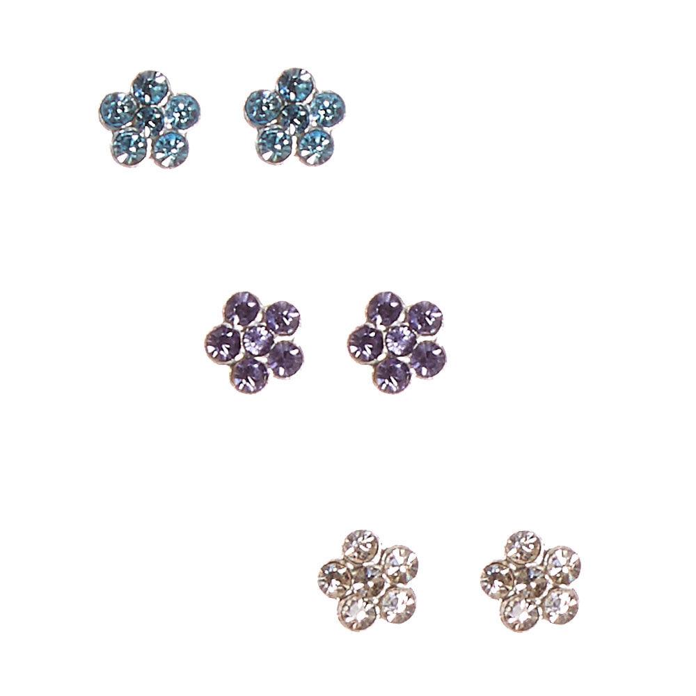 MM Sterling Silver Flower Earring Set