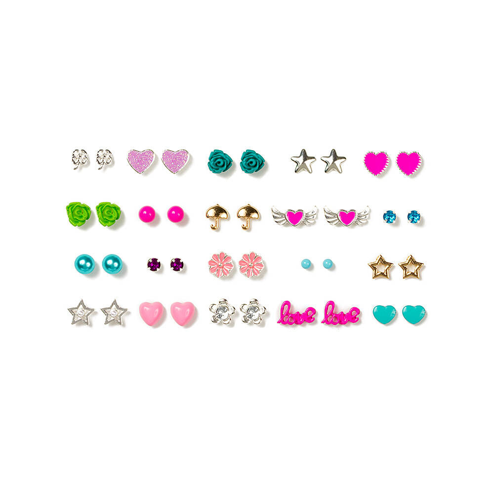 Assorted Pretty Pastel Stud Earrings