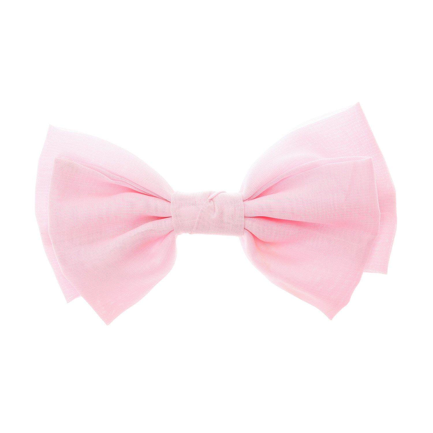 large pastel pink bow hair clip