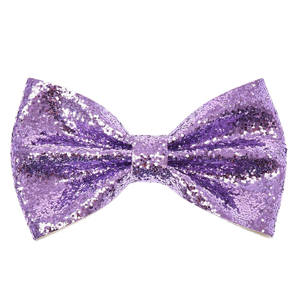 metallic glitter bow hair clip