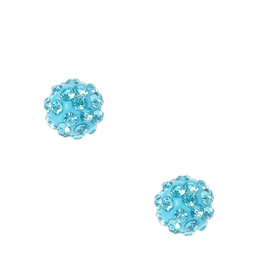 Blue Fireball Stud Earrings