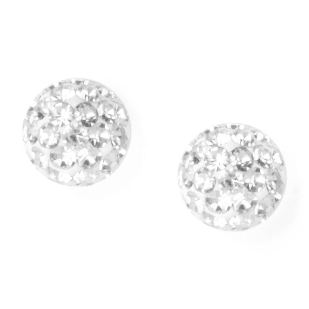 Fireball Sterling Silver Stud Earrings