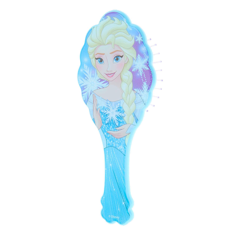 blue elsa disney frozen hair brush