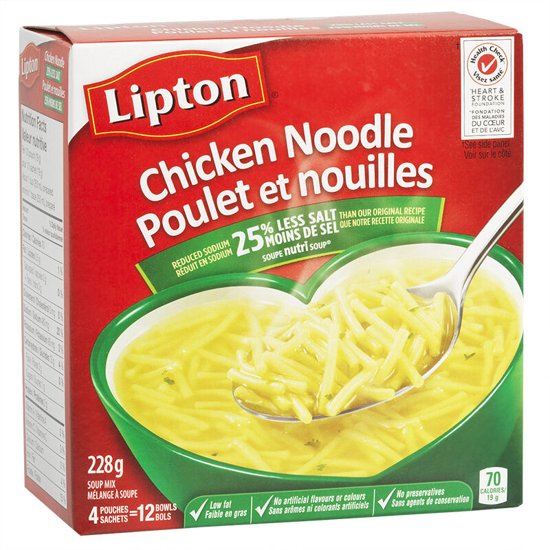 Knorr Lipton Chicken Noodle Soup Mix - 4 pack/228g ...