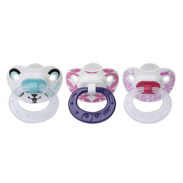 Nuk Orthodontic Pacifiers 6-18 Months Girl 3 Pack