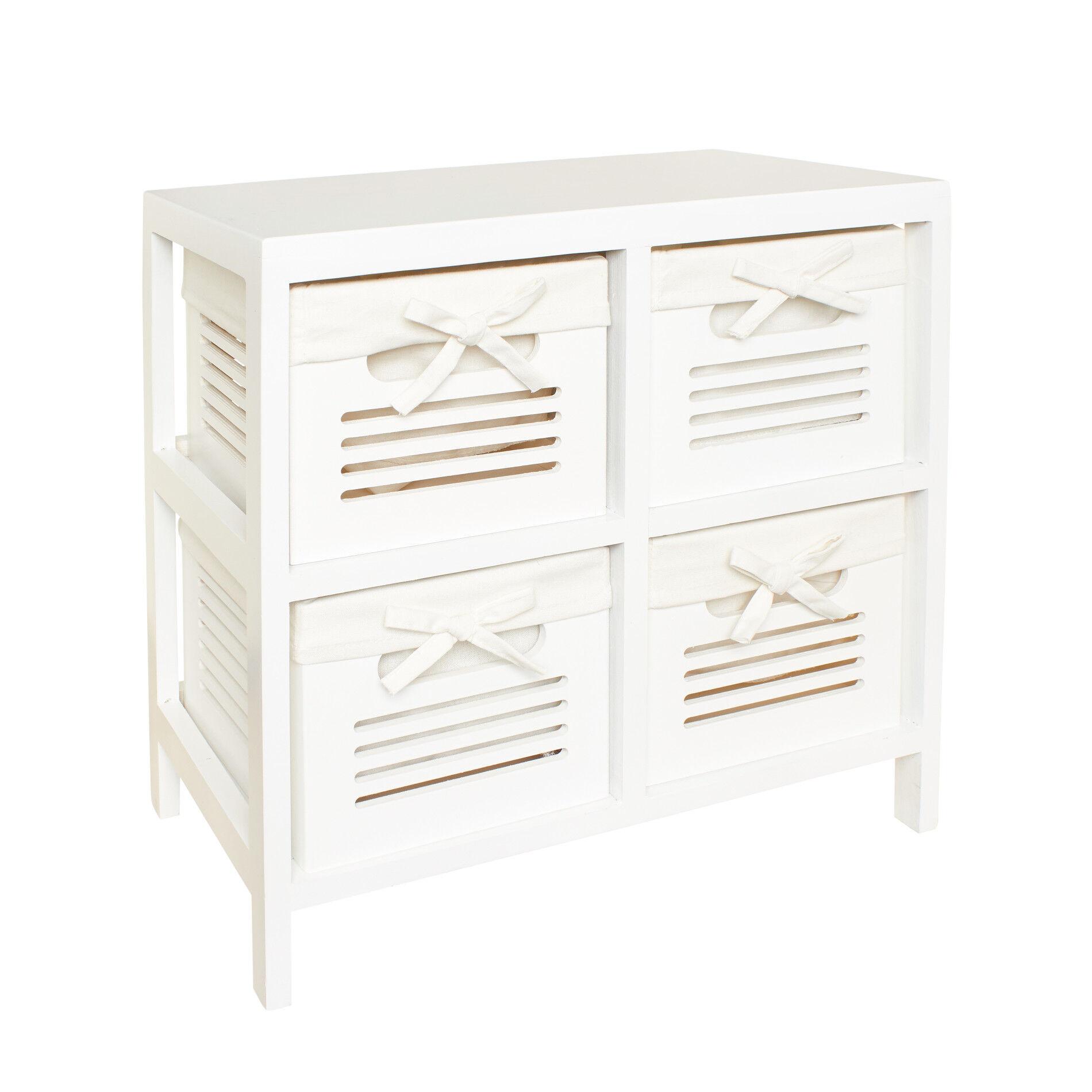 Cassettiera in legno a 4 cassetti  Coincasa