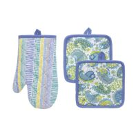 Pot holder and oven mitt set - coincasa