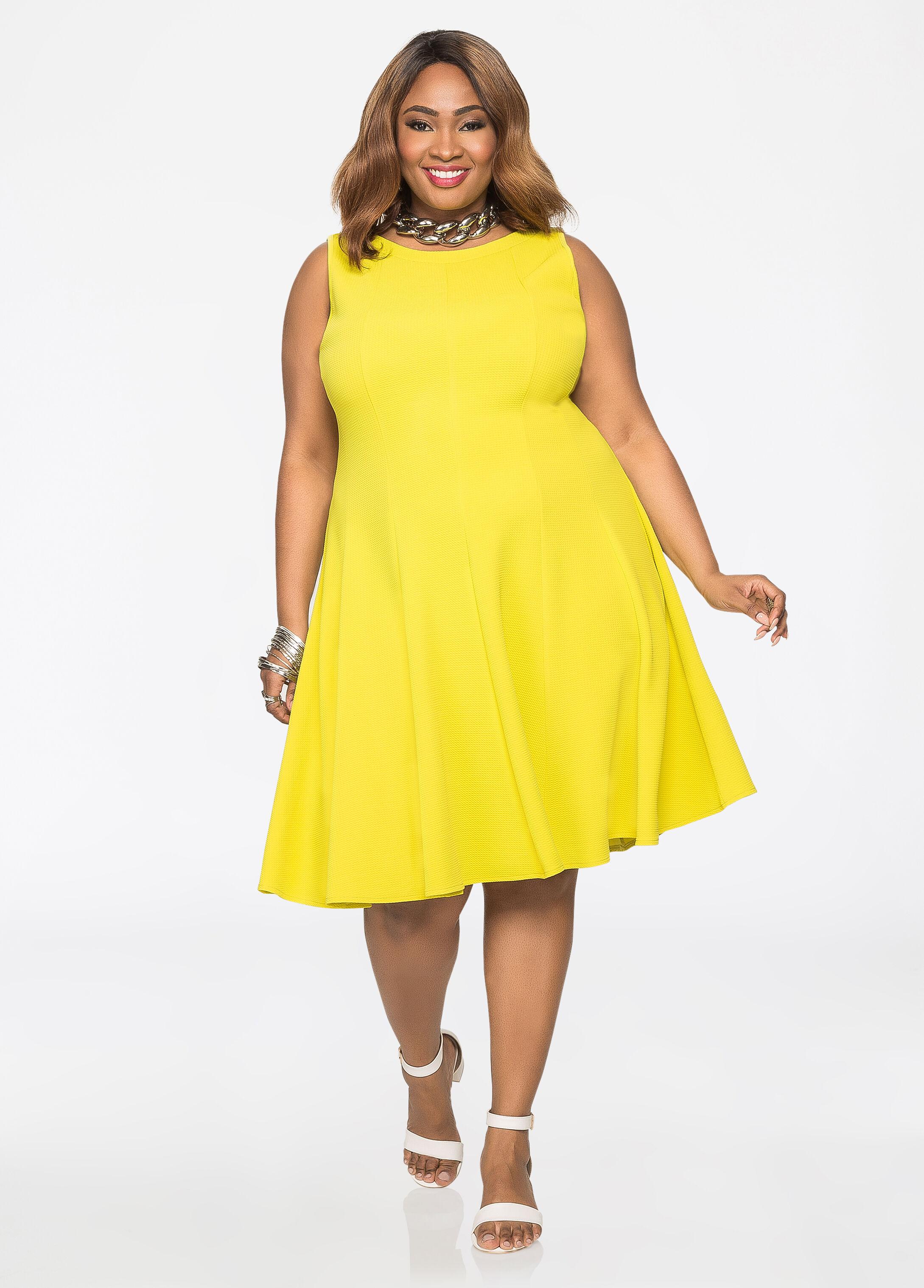 Plus Size Dresses  Sleeveless Fit n Flare Dress