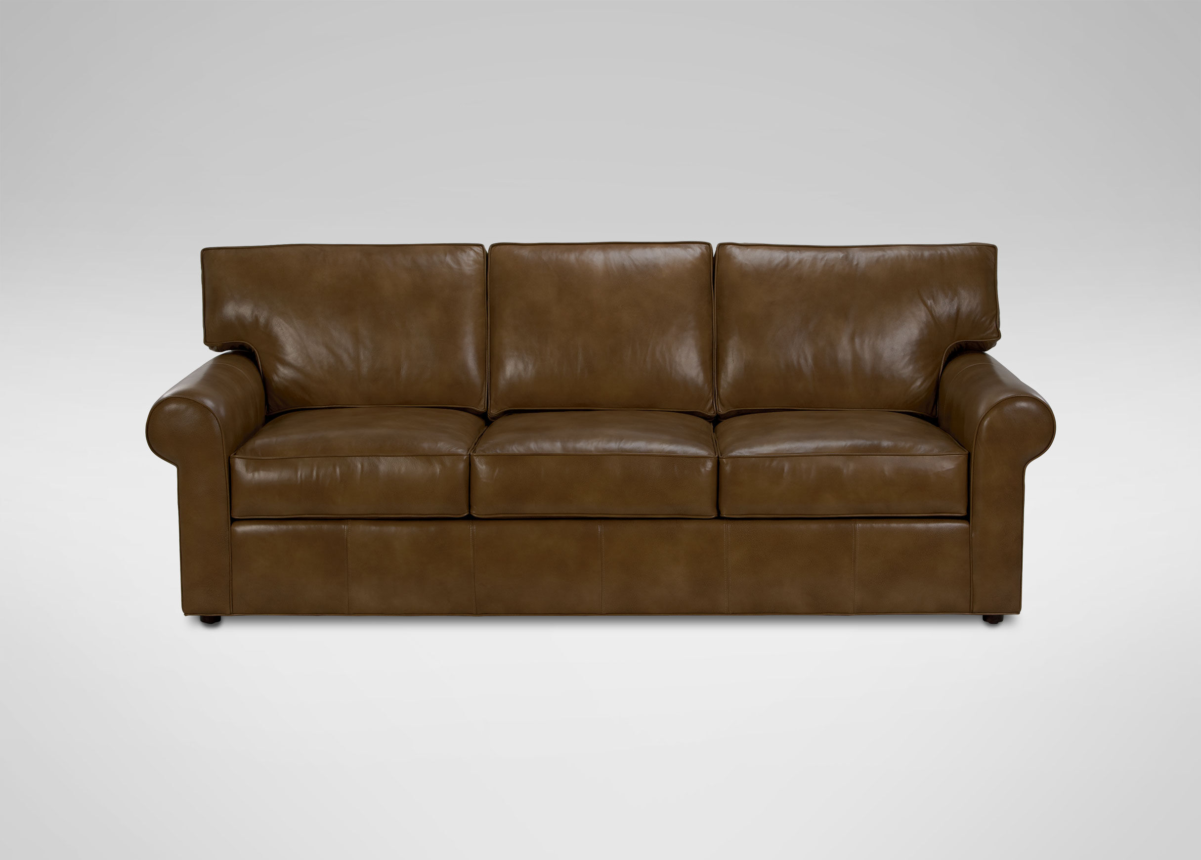 roll arm sofa canada ravenna leather euro lounger bed in brown retreat sofas and loveseats