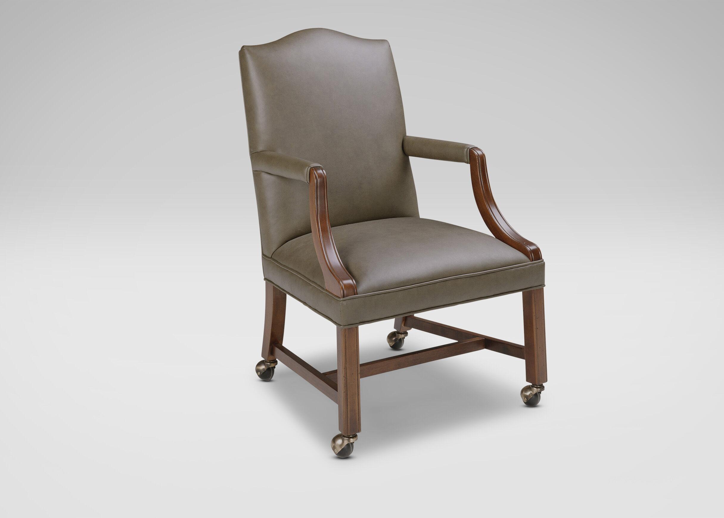 ergonomic chair bd white slipper clarke leather desk ethan allen