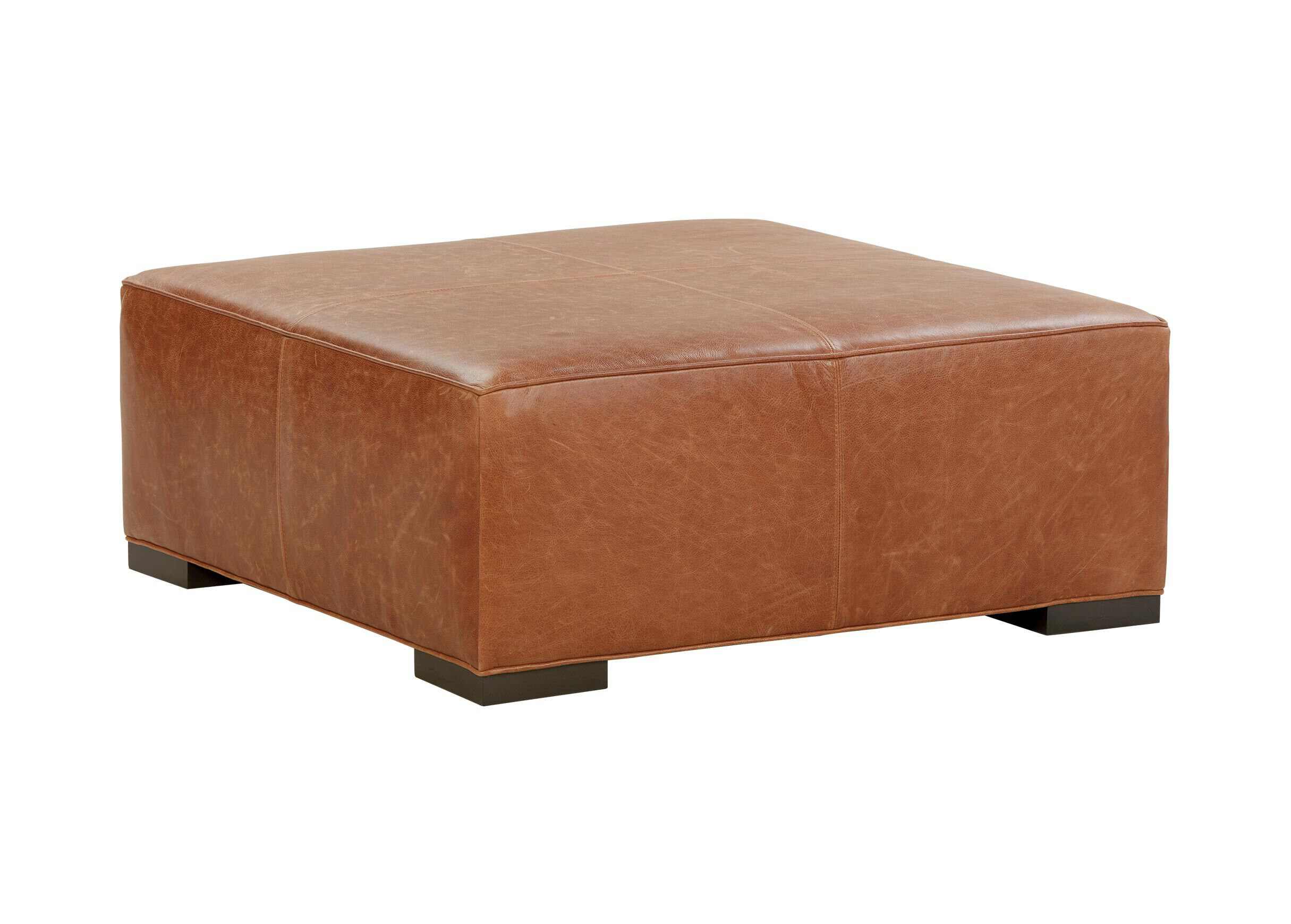 Miles Leather Cocktail Ottomans
