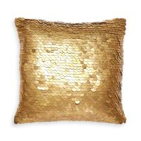 Talitha Discs Gold Throw Pillow | 12 x 12 | Jonathan Adler