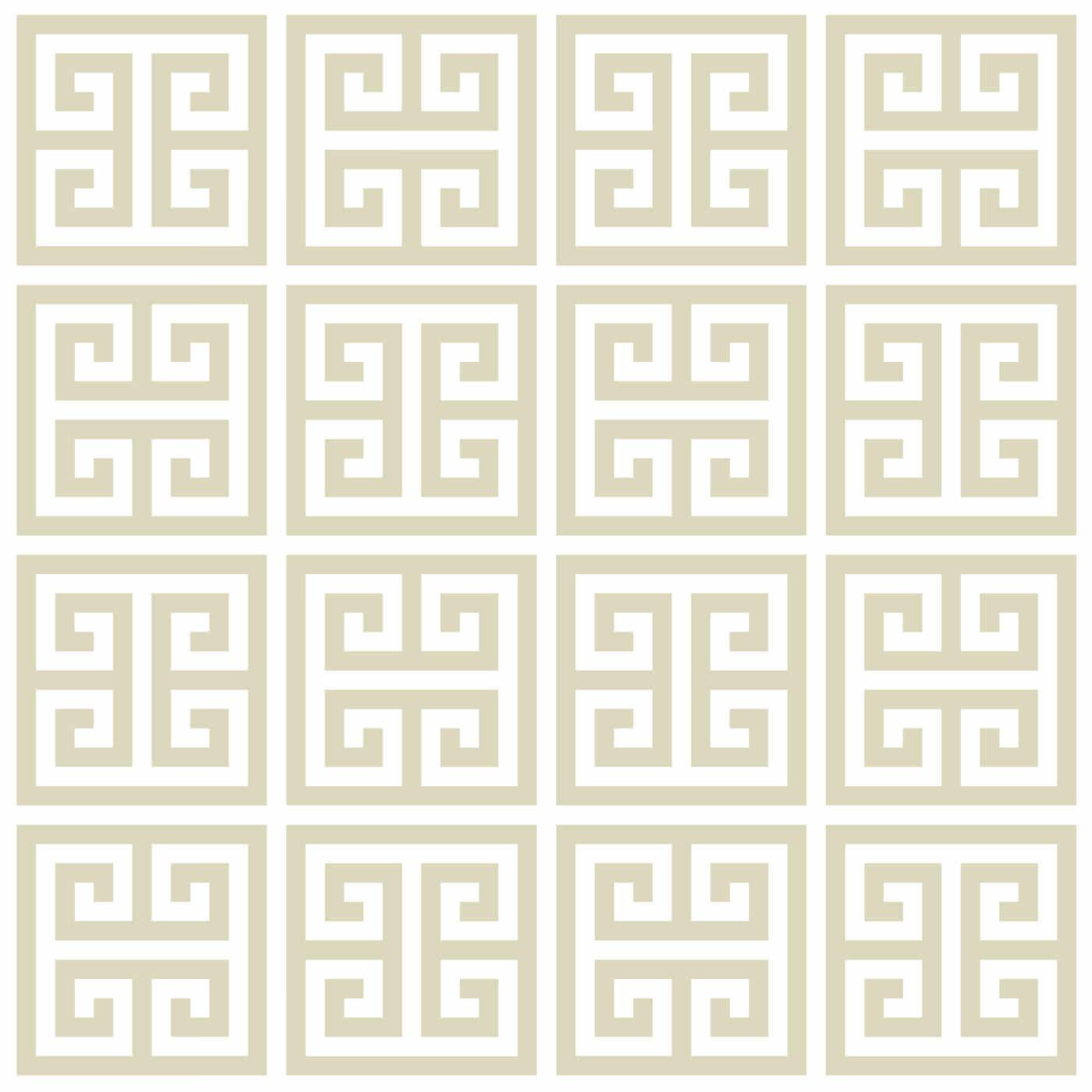 Greek Key Taupe Wallpaper
