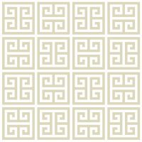 Greek Key Taupe Wallpaper